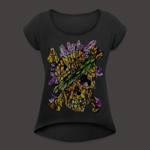 Crane de Pirate de Cristal Creepy - T-shirt à manches retroussées Femme