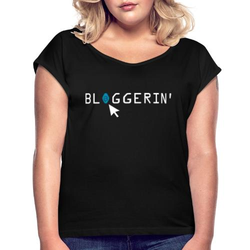 0188 Bloggerin | Blog | Buch | Bücher | Lesen - Women's T-Shirt with rolled up sleeves