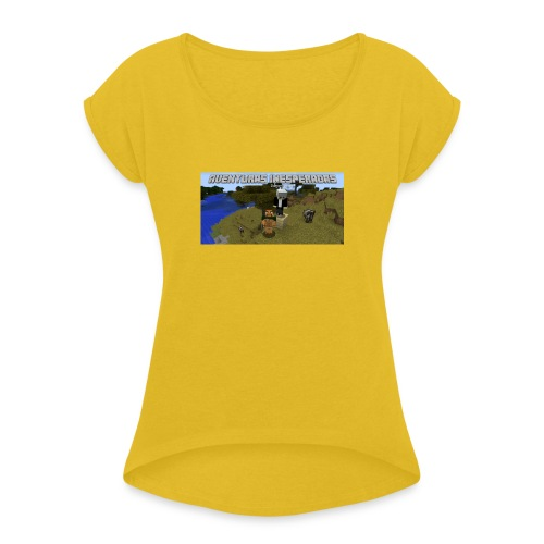 minecraft - Women's T-Shirt with rolled up sleeves