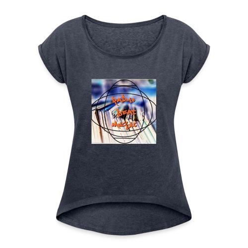 Radio Beat Music - Maglietta da donna con risvolti
