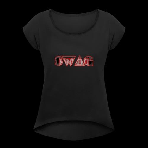 SWAG - Dame T-shirt med rulleærmer