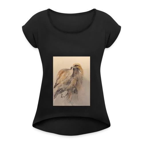 Kungsörnen svensk stolthet - T-shirt med upprullade ärmar dam