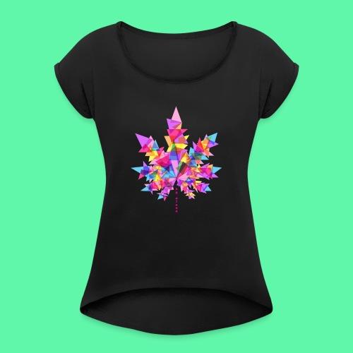 Mary Jane pink - Dame T-shirt med rulleærmer