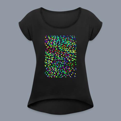 Punkiii 123.. - Frauen T-Shirt mit gerollten Ärmeln