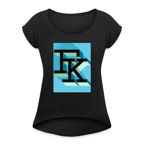 FK - T-shirt à manches retroussées Femme