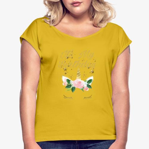It's My Birthday - Maglietta da donna con risvolti