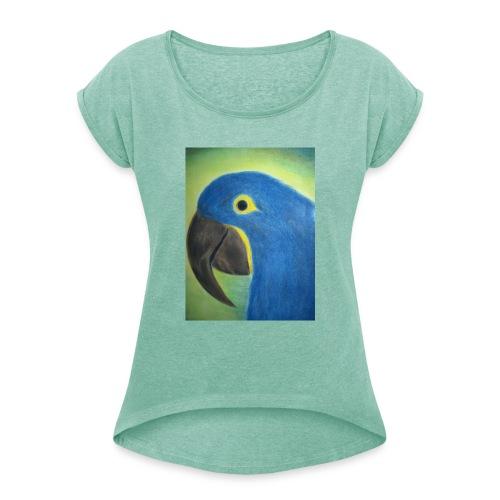 Hyasinttiara - Naisten T-paita, jossa rullatut hihat