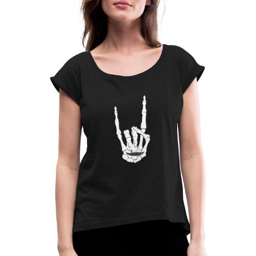 Picton.place Hardrock - Frauen T-Shirt mit gerollten Ärmeln