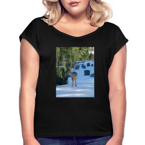 IMG 20190228 142151 - T-skjorte med rulleermer for kvinner