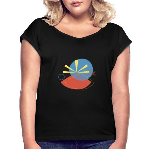 Drapeau Mahavéli 974 - T-shirt à manches retroussées Femme