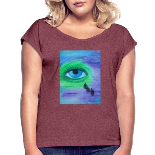 Diamant - Frauen T-Shirt mit gerollten Ärmeln