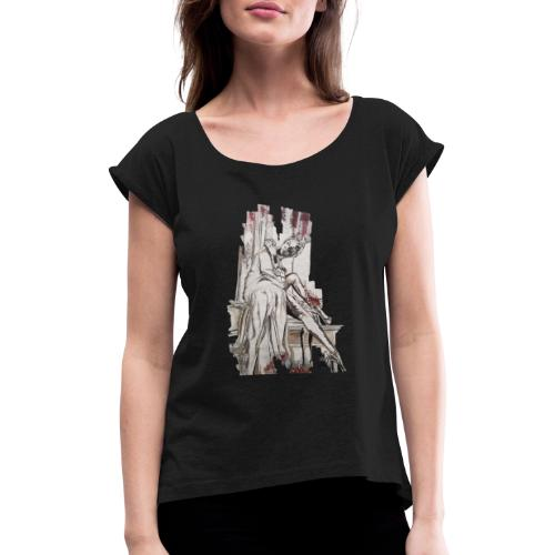 From dust till dawn - Frauen T-Shirt mit gerollten Ärmeln