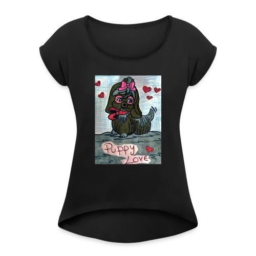 puppylove - Maglietta da donna con risvolti
