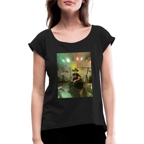 Hjesper country - T-skjorte med rulleermer for kvinner