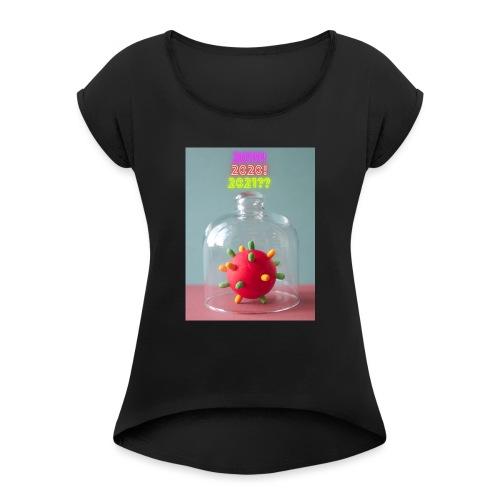 corona style hope mystery - Vrouwen T-shirt met opgerolde mouwen