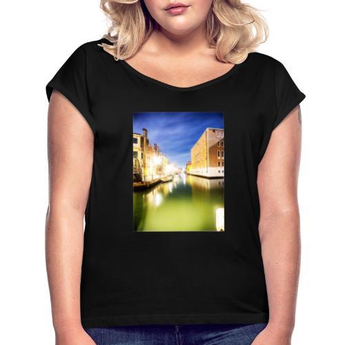 Venezia - Frauen T-Shirt mit gerollten Ärmeln
