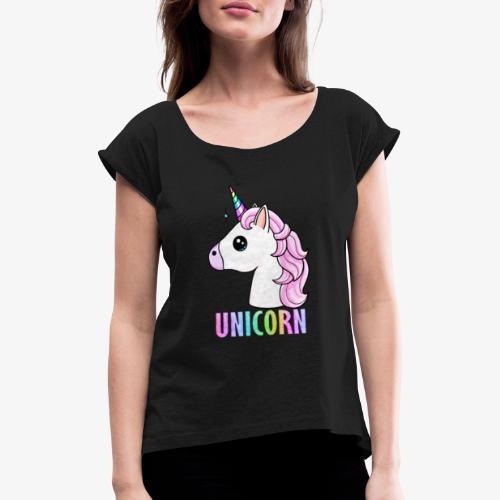 Unicorn - Maglietta da donna con risvolti