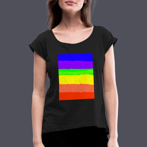 Rainbow - Women's T-Shirt with rolled up sleeves