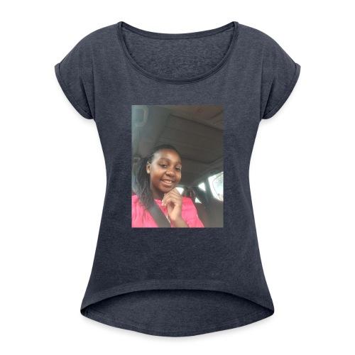tee shirt personnalser par moi LeaFashonIndustri - T-shirt à manches retroussées Femme