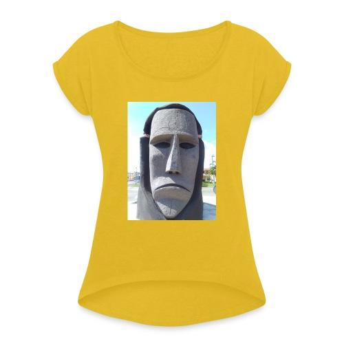 Ottana - Maglietta da donna con risvolti