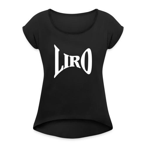 Wide Geometry Logo - Vrouwen T-shirt met opgerolde mouwen