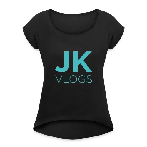 JK Vlogs Logo - Women's T-Shirt with rolled up sleeves