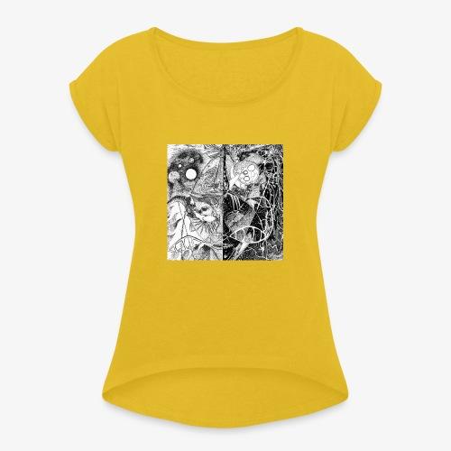 Universe in us all Square edition by Rivinoya - Naisten T-paita, jossa rullatut hihat