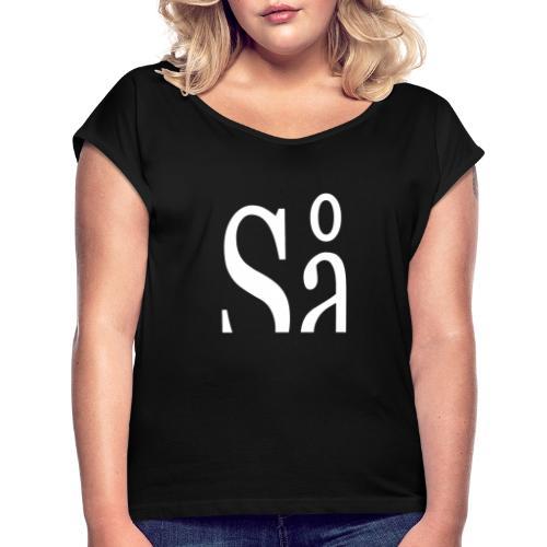 Så - Dame T-shirt med rulleærmer