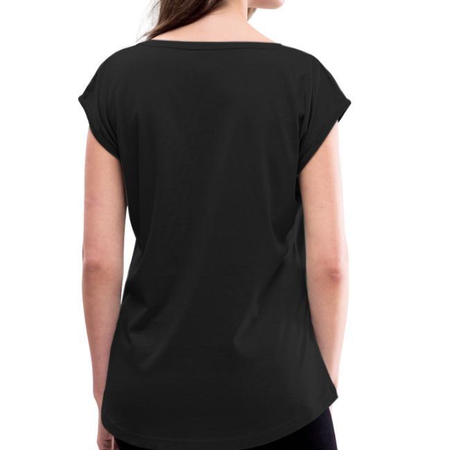 Vorschau: Grosse Schwesta - Frauen T-Shirt mit gerollten Ärmeln