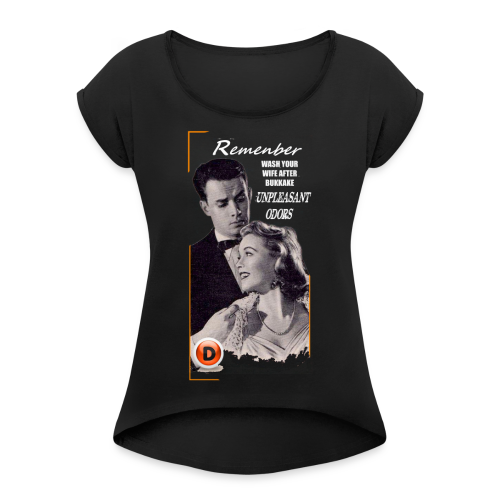 vintage advice - Women's T-Shirt with rolled up sleeves