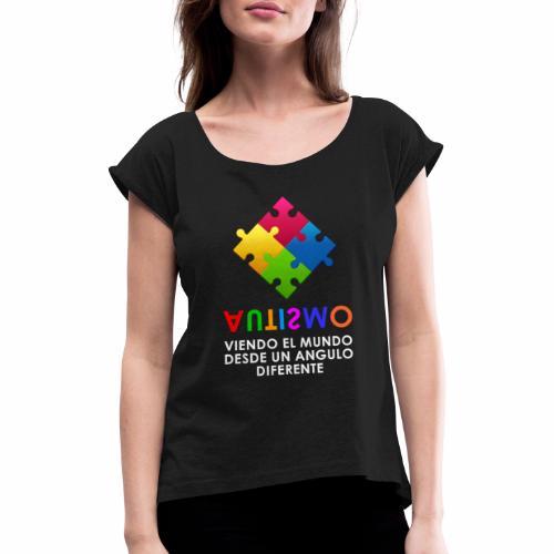 El Autismo según Yo soy Asperger - Camiseta con manga enrollada mujer