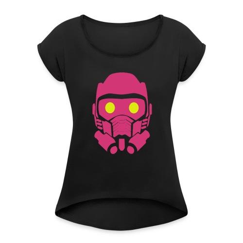 masca_2 - Camiseta con manga enrollada mujer