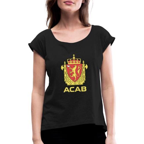 ACAB Logo - T-skjorte med rulleermer for kvinner