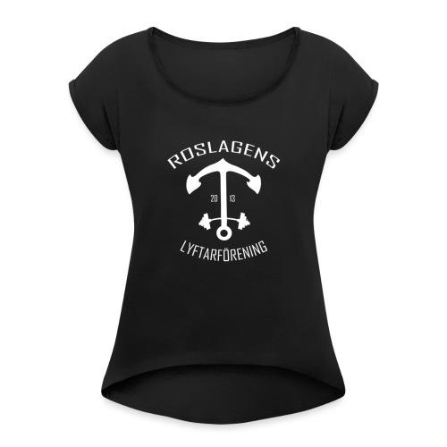 RLF LOGGA - T-shirt med upprullade ärmar dam