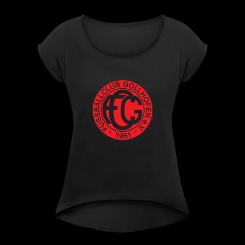 Klassik Logo - Frauen T-Shirt mit gerollten Ärmeln