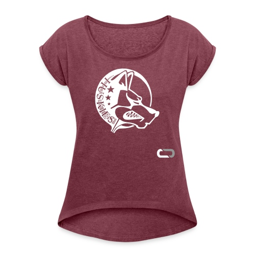 CORED Emblem - Women's T-Shirt with rolled up sleeves