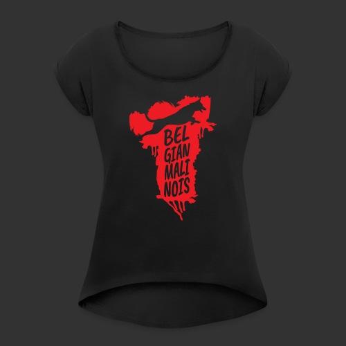 Belgian Malinois JUMP - Naisten T-paita, jossa rullatut hihat