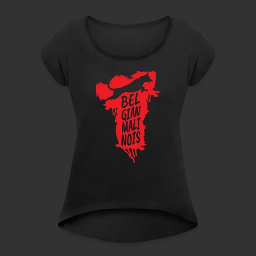 Belgian Malinois JUMP - Women's T-Shirt with rolled up sleeves
