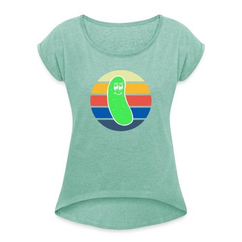 Vintage Colored Pickle #3 - Maglietta da donna con risvolti