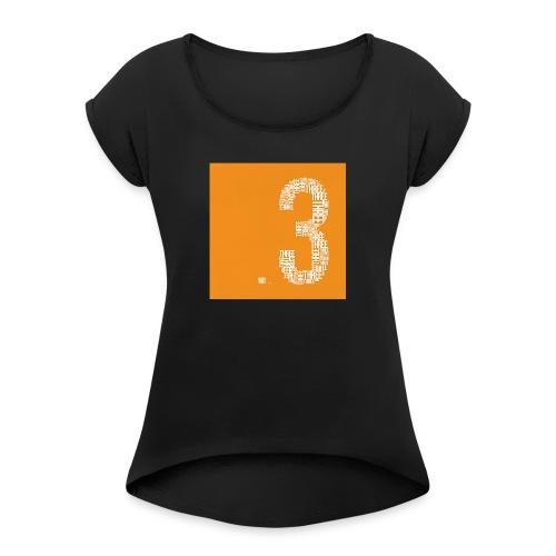 No.3 - T-shirt med upprullade ärmar dam