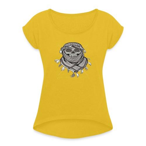 Krieger - Frauen T-Shirt mit gerollten Ärmeln