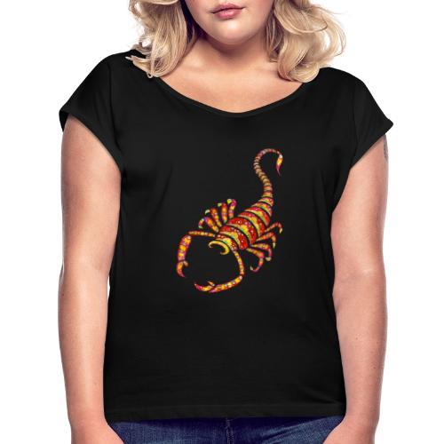 Diego le scorpion - T-shirt à manches retroussées Femme
