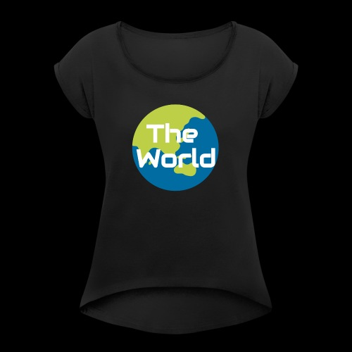The World Earth - Dame T-shirt med rulleærmer