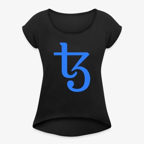 Tezos - T-shirt à manches retroussées Femme