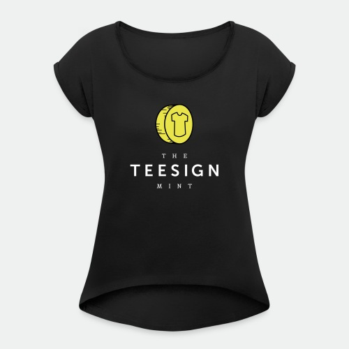 Teesign Mint Tshirt FA 4 - Women's T-Shirt with rolled up sleeves