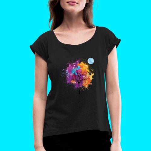 LOGO AUTUNNO BANCOMATTI - Maglietta da donna con risvolti