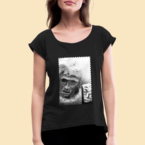 Sculptures - Frauen T-Shirt mit gerollten Ärmeln