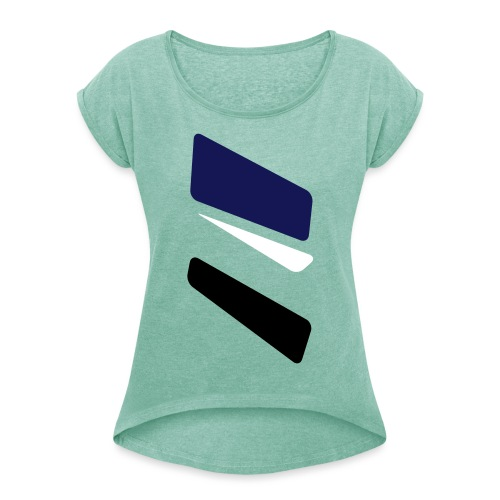 3 strikes triangle - Women's T-Shirt with rolled up sleeves
