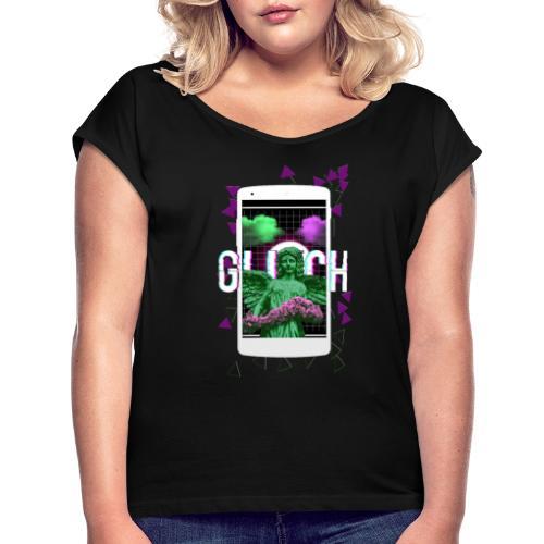 angel glitch - Camiseta con manga enrollada mujer