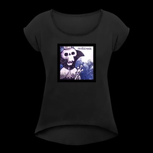 TronoVacante ReMorto 1 - Maglietta da donna con risvolti